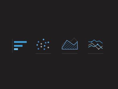 Data @ Night icon icons progress bar chart line graph area chart graph chart infographics dark theme data
