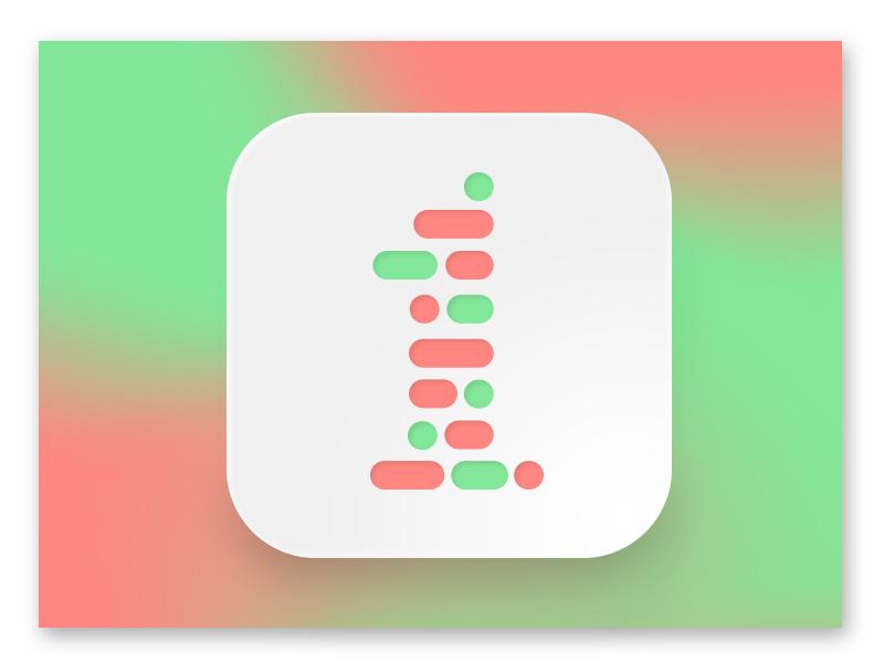 iOS App Icon / Typehue 1 Rebound morse code code binary typography number 1 1 typehue rebound