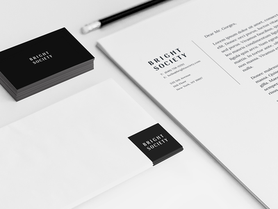 Bright Society Stationery Set stationery mockup stationery design stationery correspondence stock identity branding identity