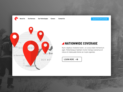 Web Ui insurance safety branding homepage design homepage web ui uidesign