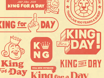 King For A Day (Birthday Fun) logotype retro crown king logo