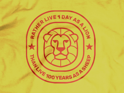 1 Day As a Lion Detail branding design t shirt art t shirt t-shirt art t-shirt leo season leo logo