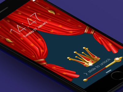 Royal UI rich crown blinds luxury king wallpapers iphone ui shine red illustration