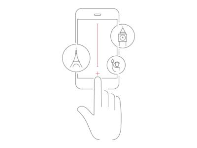 Worldstime app worldstime illustration white gray simple icon outline