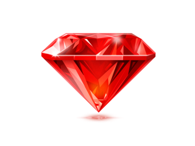 Ruby icon ruby gem red icon illustration light rich luxury game treasure