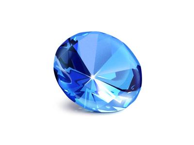 Sapphire concept treasure game luxury rich light illustration icon blue gem sapphire
