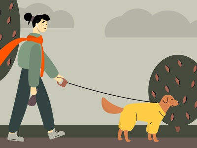 Dog lover walk dog 2d character vector 2d art illustrator illustration flat adobe illustrator