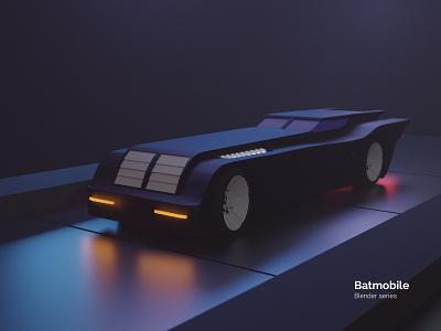 Batmobile - Blender series photoshop modeling bat series batmobile batman the animated series batman illustration cgartist cgart blendercycles blender3d blender 3d artist 3d art 3d