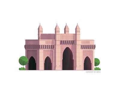 Gateway Of India - Mumbai india illustration stipple illustrator photoshop building gateway of india series