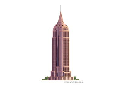 Empire State Building - New York City series empire state building building photoshop illustrator stipple illustration ny newyork