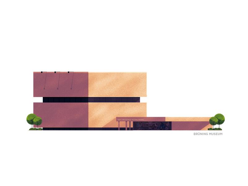 Brüning Museum - Peru art building series museum peru adobe design photoshop stipple illustrator illustration