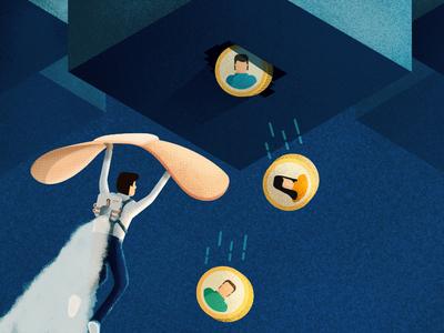 How to reduce churn jetpack concept freshchat agent churn character design photoshop stipple illustrator illustration