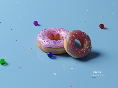 Donuts - Blender series dimensional india blender3dart design series donuts 3d blendercycles blender 3d blender photoshop