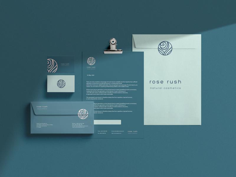 Rose Rush Branding minimal icon illustration logotype logo design logo design packaging product design brand identity brand design branding