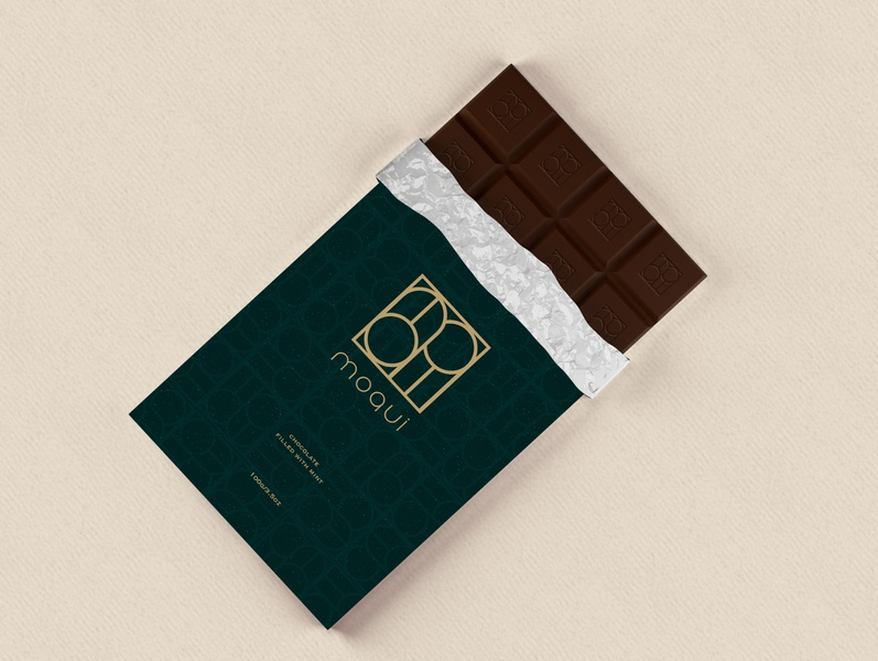 Moqui Chocolate Packaging logo design logo design brand branding design brand identity packaging design package design packaging brand design branding