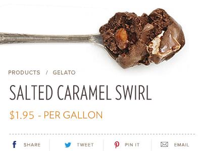 Product Page gelato dessert social media share proxima nova chocolate