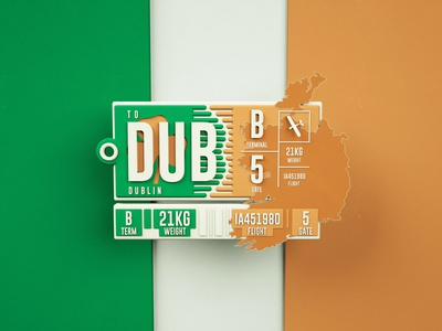 Welcome To Dublin art ireland dublin flight tag 3d octanerender octane c4d