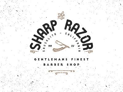 The Sharp Razor press shop barber razor sharp logo vintage