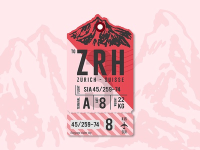 Next stop, Zurich plane travel logo luggage bag tag switzerland zurich