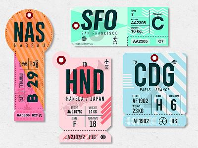 A few more tags san francisco paris tokyo usa france bahamas japan plane travel luggage bag tag
