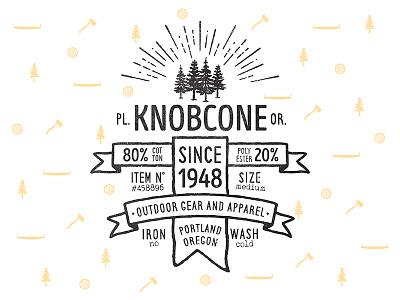 Knobcone Outdoor oregon portland goods outdoor logo vintage tag bag