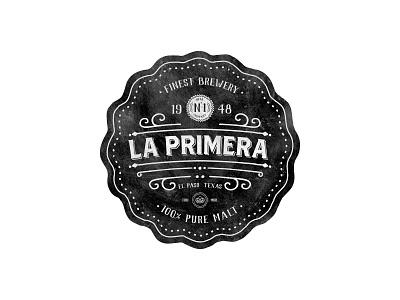 La Primera Brewery vintage badge logo beer brewery