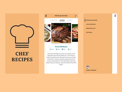 Chef Recipes - Recipe App mobile cooking recipe design challenge