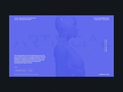 Artificial - Micro Site artificial robot transition clean development ux ui branding motion website layout minimal design