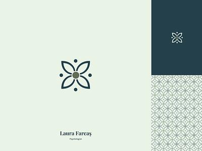 L.P. Branding minimal pattern design branding logo