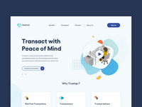 trustap website transactions fintech friendly colors clean web illustration development website branding minimal ux ui design