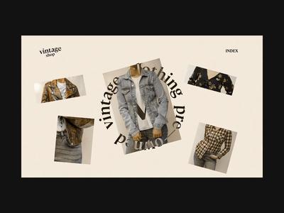 Vintage Shop Web Concept developer branding logo website web video ux ui typogaphy transition site motion minimal landing interaction gallery design concept animation