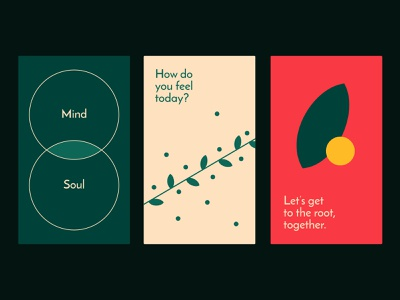Grow Center — Colors style color logo branding design typography leaves cards soul mind identity leaf psychology center grow