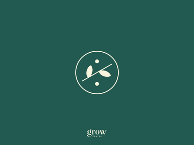 Grow Center — Logo Animation grow center psychology leaf identity mind soul cards leaves typography design branding logo motion animation
