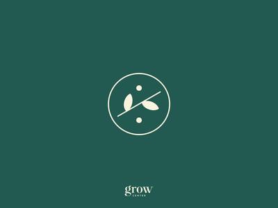 Grow Center — Logo Animation grow center psychology leaf identity mind soul cards leaves typography design branding logo motion animation