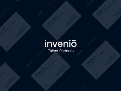 inveniō - Brand Identity styleguide symbol logotype typography colors visual identity guidlines latin minimal staffing recruitment talent invenio design branding book animation logo branding
