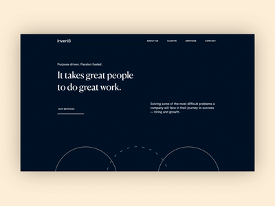 inveniō - Website lottie development colors webflow graphic design minimal branding typography animation presentation website ux ui design