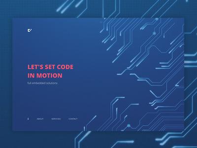 coderepublik website landind brand website typography animation layout development design