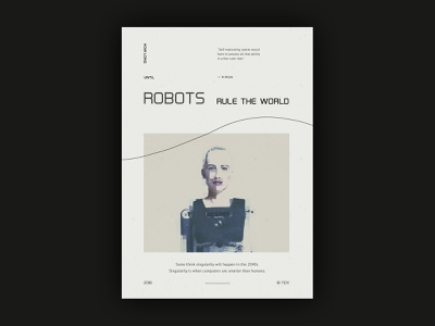 Experiment #1 - Robots robot type typography sophia ai future retro design layout poster abstract