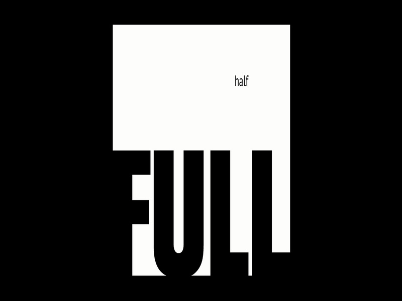 Experiment #2 - Half Full half abstract design poster poster challenge poster a day