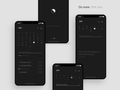 monodo - Minimal todo app development brand clean ux ui landing website logo branding monocolor layout design app mobile minimal monodo