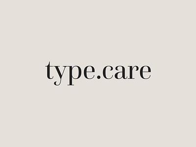 type.care — id brand motion branding type typography minimal animation design logotype logo
