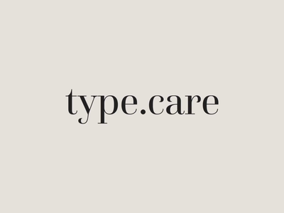 type.care - Logo & Colors brand motion branding type typography minimal animation design logotype logo