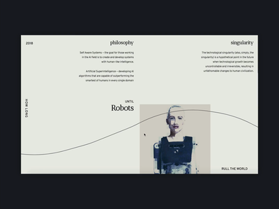 Loading & Scroll Interaction - Anime.js Experiment (Source Code) scroll reveal interaction anime development landing ux ui website animation layout typography minimal design