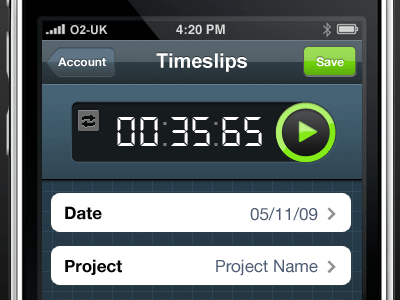 Time Tracking iphone app freeagent timer