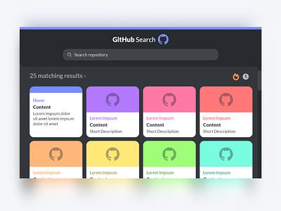 GitHub Repository Search website concept website minimal flat web app ux design interface ui design uiux ui