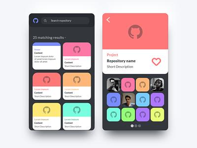 Github Repository Search  Idea - app design app minimal web ux uiux ui design ui interface flat design