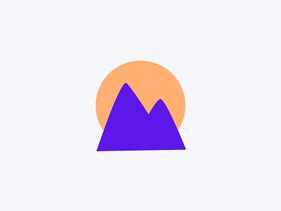Mountain app icon vector minimal design ui design branding logo flat
