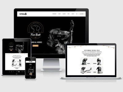 San Diego Humane Society Fur Ball Gala Website website logo branding ui web design ux
