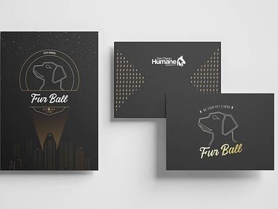 San Diego Humane Society Fur Ball Gala Invite logo branding print design