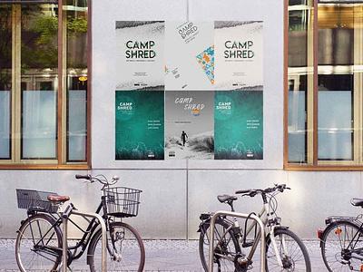 Camp Shred Surf Event Poster Design typography print branding design